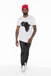 Africa Curved Hem Graphic T-Shirt (Black) - pacorogiene