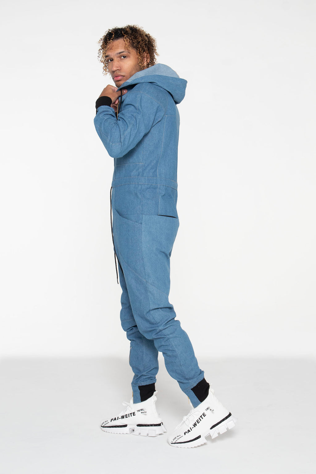 (PRE-ORDER) Light Blue Denim Unisex Jumpsuit - pacorogiene