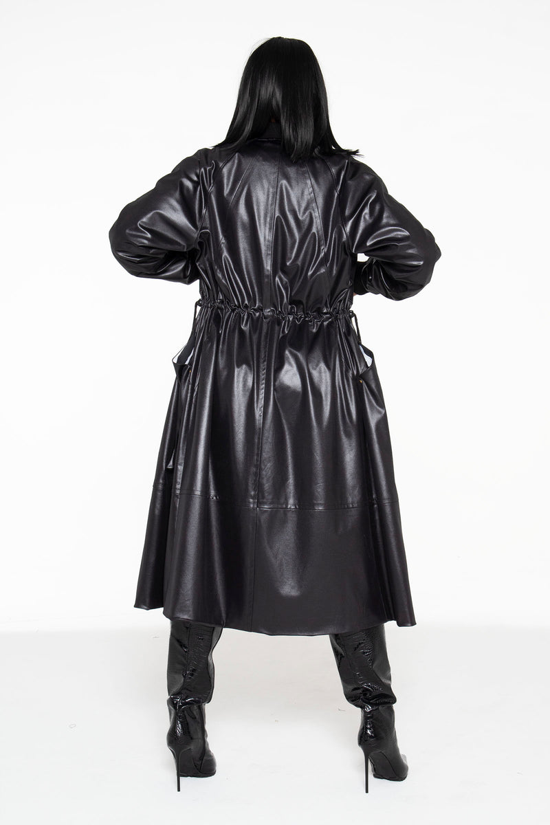 (PRE-ORDER) Illusion Leather Long Bomber Jacket- Unisex - pacorogiene