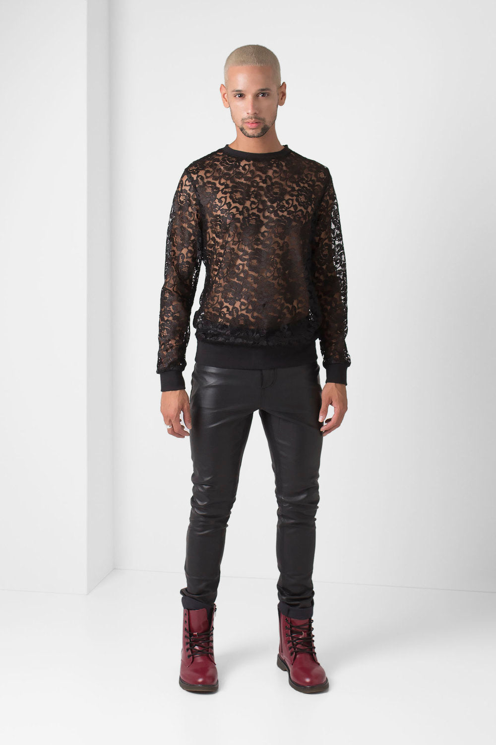 Black Lace Pullover - pacorogiene