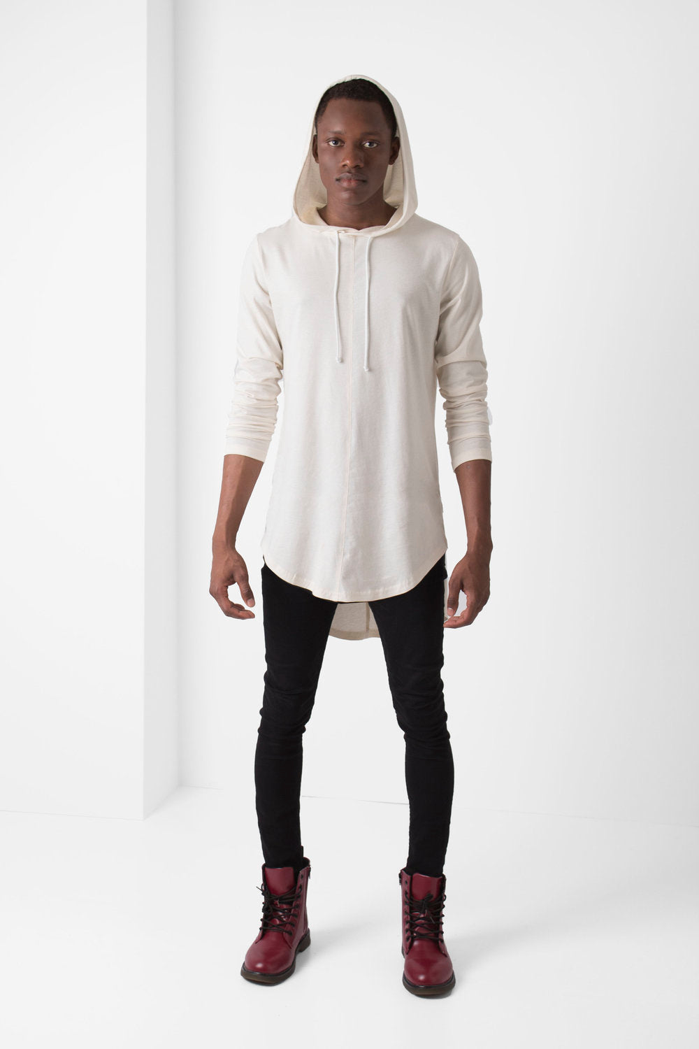 Off-White High Low Hooded T-Shirt - pacorogiene