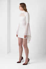 Off-White Bell Sleeve Mini Dress - pacorogiene