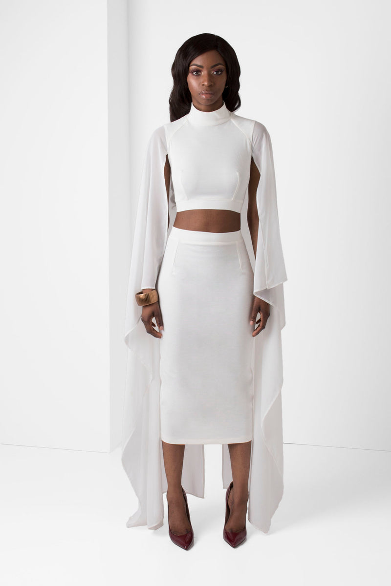 Off-White High Rise Pencil Skirt - pacorogiene