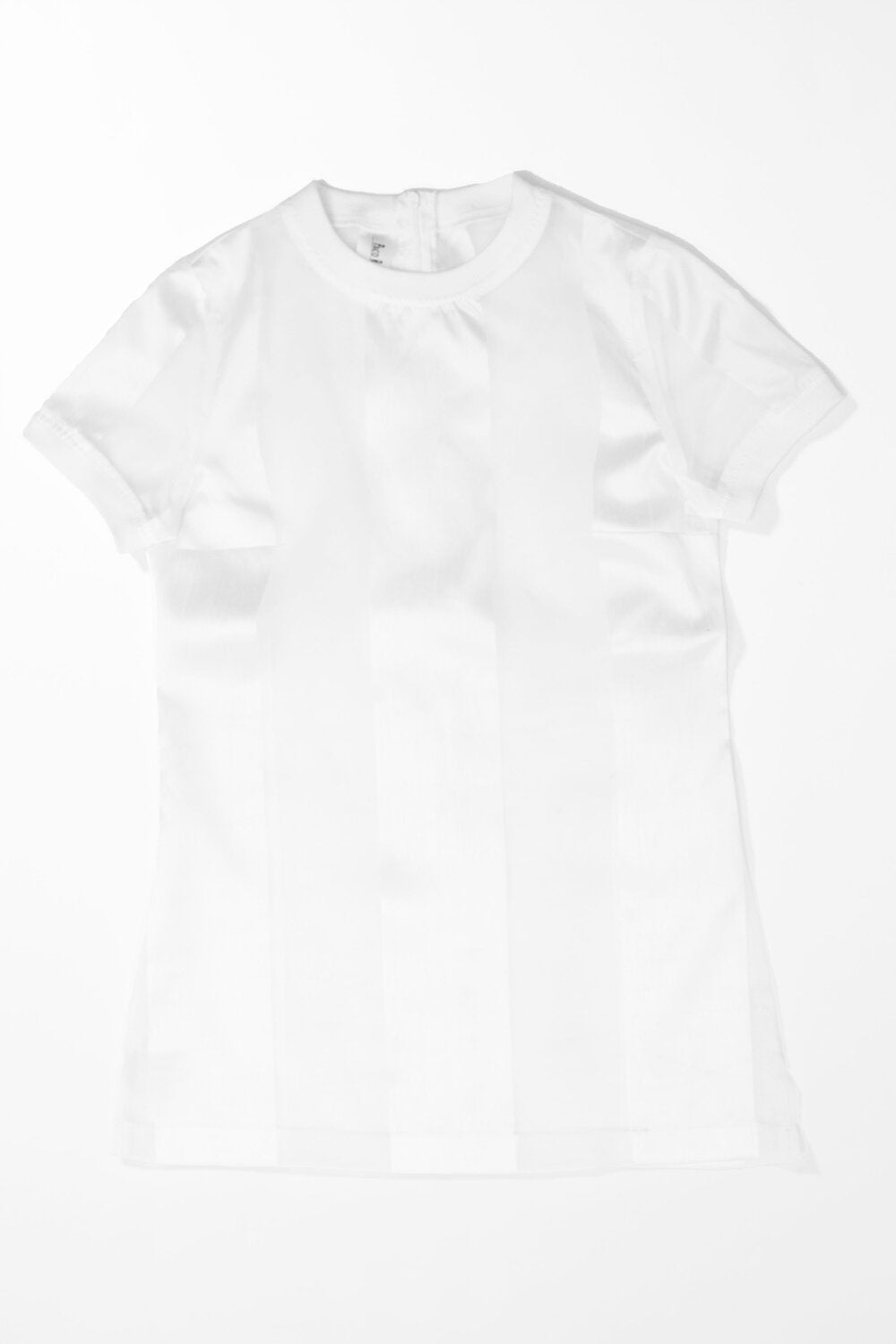 Castaway Striped Organza T-Shirt (White) - pacorogiene