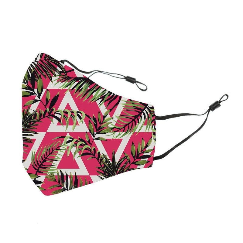 Reusable Face Cover Geo Jungle Pink