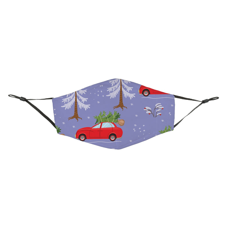 Reusable Face Cover In Search of a Perfect Tree Purple