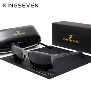 KINGSEVEN Brand Design Fashion Aluminum Magnesium Sunglasses Men Polarized Driving Eyewear