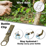 Multifunctional Survive Wristband Whistle Blanket Knife