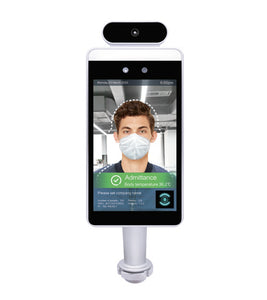 Pass Management Temperature Screening Kiosk with Desktop Stand and Free Shipping - TempSafe Technologies