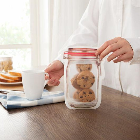 Reusable Mason Jar Snack Bags