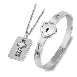 Lock Your Heart Bracelet Set - UniqueSimple