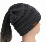 Soft Knit Ponytail Beanie - UniqueSimple