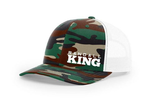 Camo Cap with white back Randall King  logo