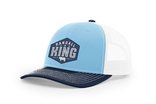 Navy Bill Light Blue front white back with Randall King Logo patch