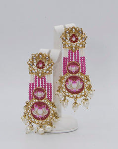 Painted Meenakari Earrings