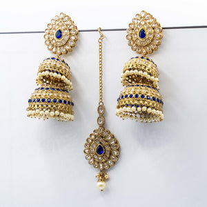 Double Chumkee Tikka Earring Set