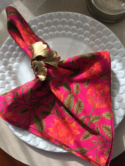 Floral Pink Napkin (set of 4)