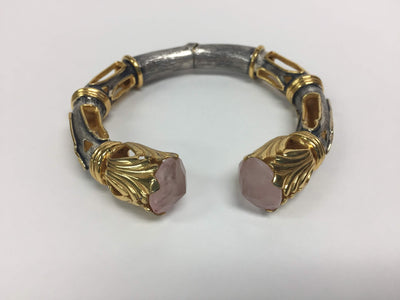 Rose Quartz Tip Cuff
