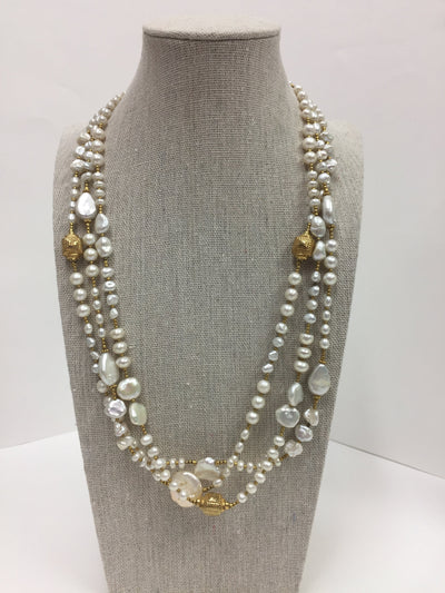 Three Strand Pearls Necklace