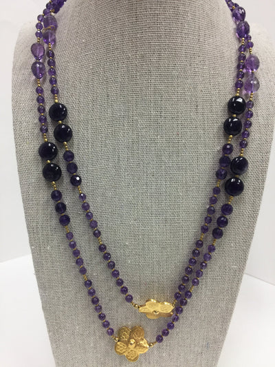 Flower Amethyst Necklace