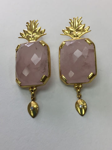Varg Rose Quartz Earrings