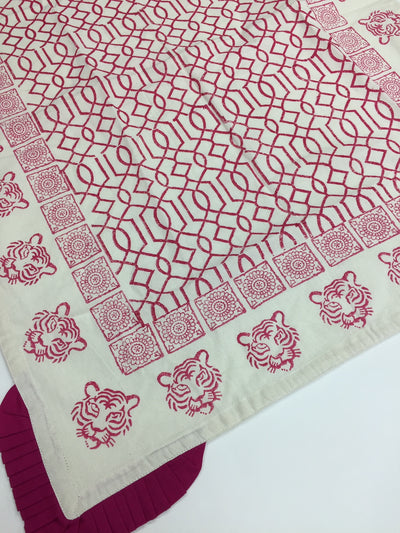 Tea Towel - Tiger Face Pink