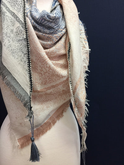 Ombre Triangle Scarf with Tassel