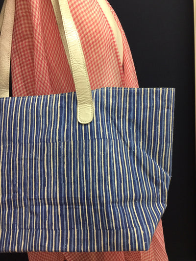 Blue Watercolor Canvas Tote