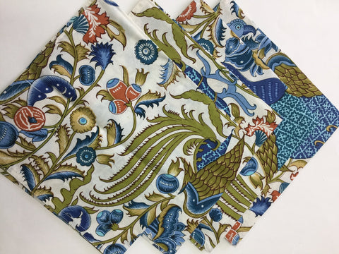 Blue Peacock Napkins (set of 4)