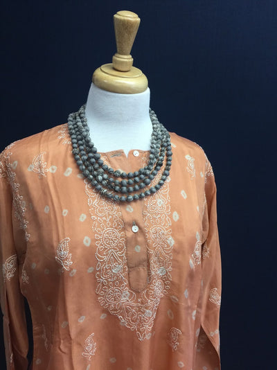Chikankari (Machine Washable) Silk Tops