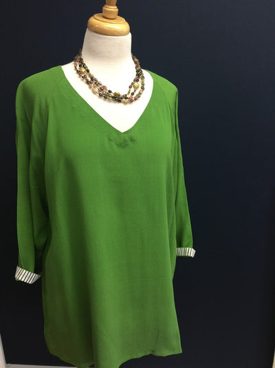 Green Silk Pop Tunic