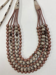 NEW! Silk Sari Bead Necklace - 5 string