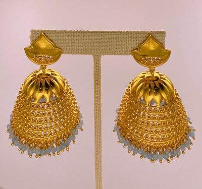 Chalcedony Jhumka Earrings