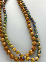 NEW! Silk Sari Bead 2-string