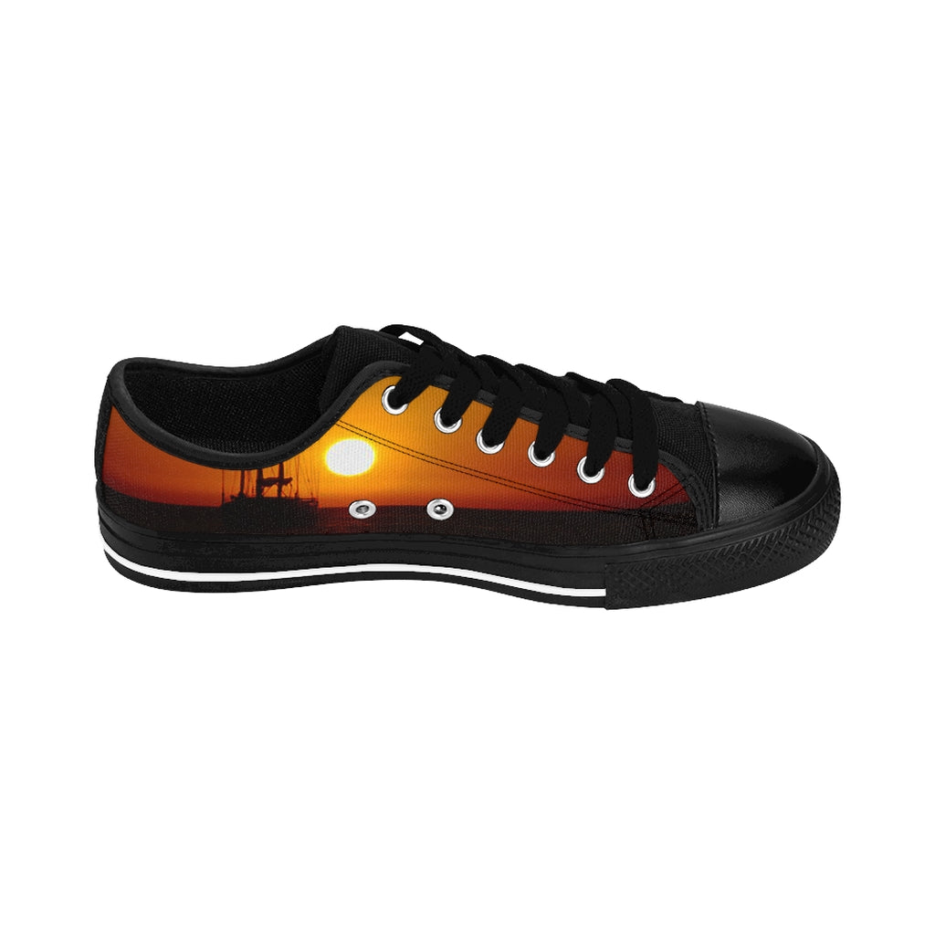 """Sunset"" Women's Sneakers - Cluedshopperclothing"