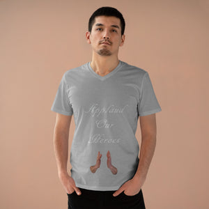 Men's Presenter V-neck - Applaud our Heroes - Cluedshopperclothing