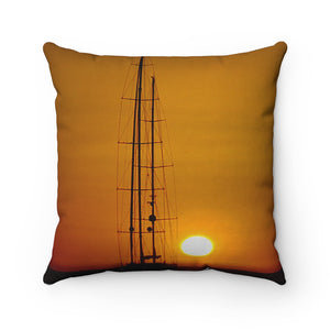 Spun Polyester Square Pillow Case Sunset - Cluedshopperclothing