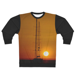 AOP Unisex Sweatshirt Sunset Black - Cluedshopperclothing