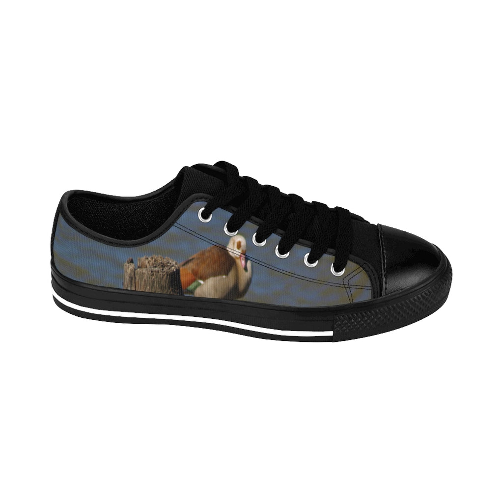 """Perched Egyptian Goose"" Women's Sneakers - Cluedshopperclothing"