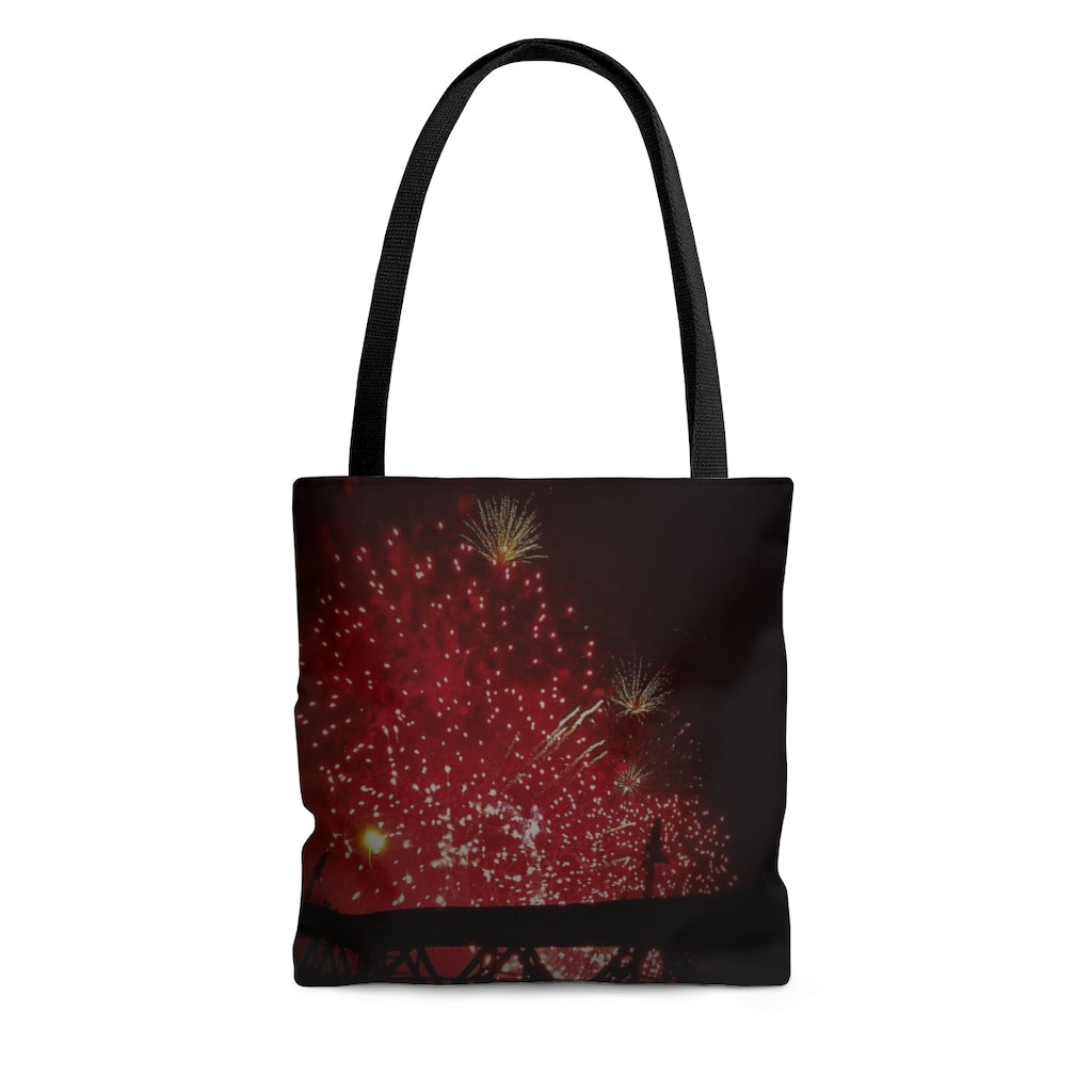 AOP Tote Bag Fire works - Cluedshopperclothing