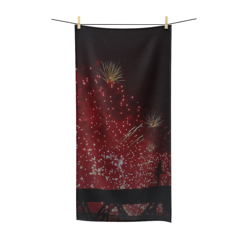 """Fireworks"" Polycotton Towel - Cluedshopperclothing"