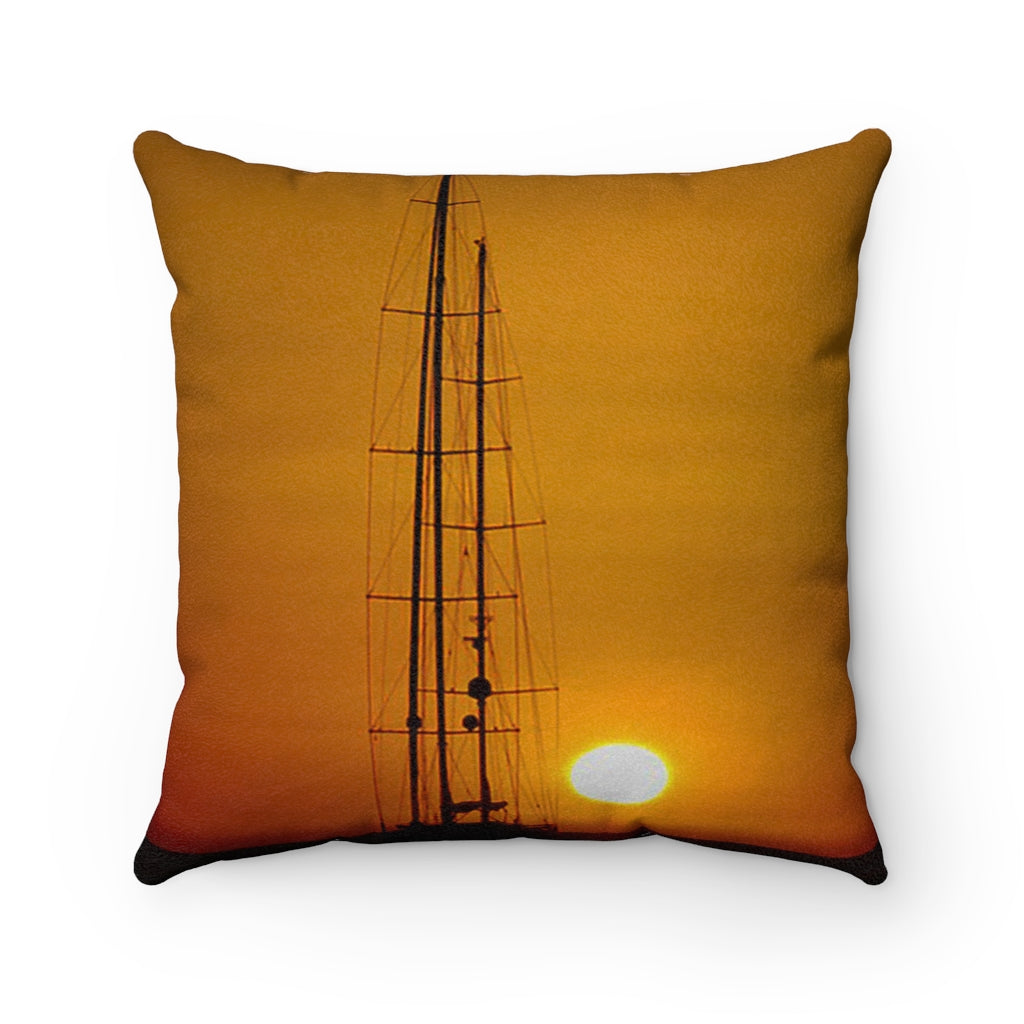 Faux Suede Square Pillow Case Sunset - Cluedshopperclothing