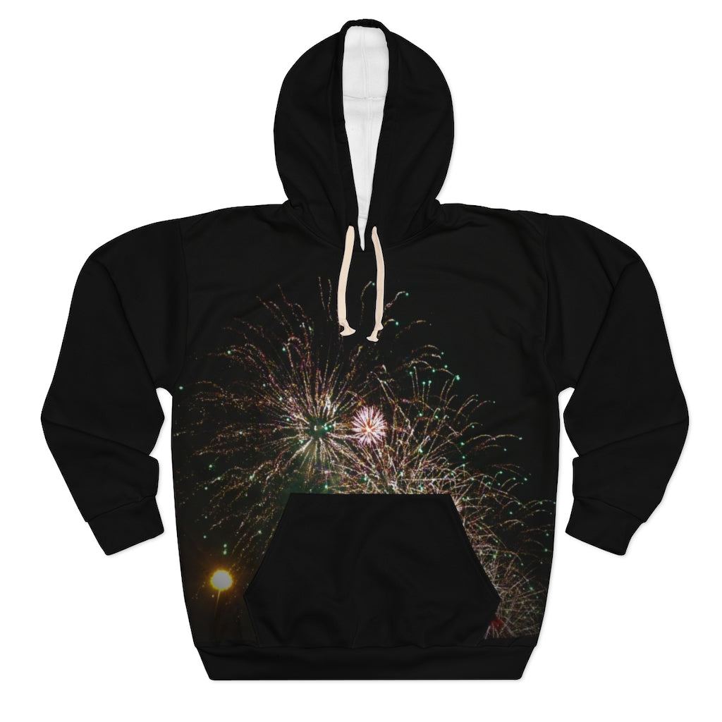 Unisex Pullover Black Hoodie - Cluedshopperclothing