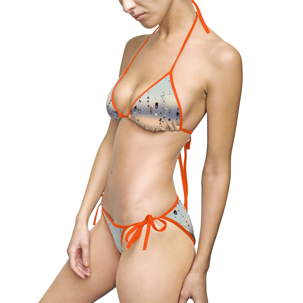 Rain Drops Women's Bikini Swimsuit - Cluedshopperclothing