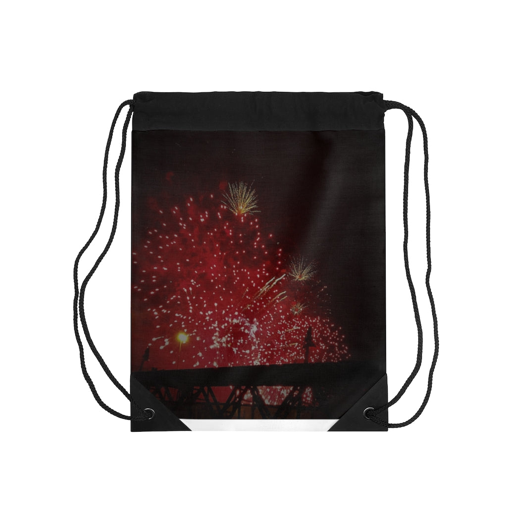 Drawstring Bag Fire works - Cluedshopperclothing