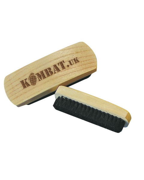 Military boot polishing brush