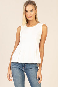 Can't Let You Go  - Peplum Tank