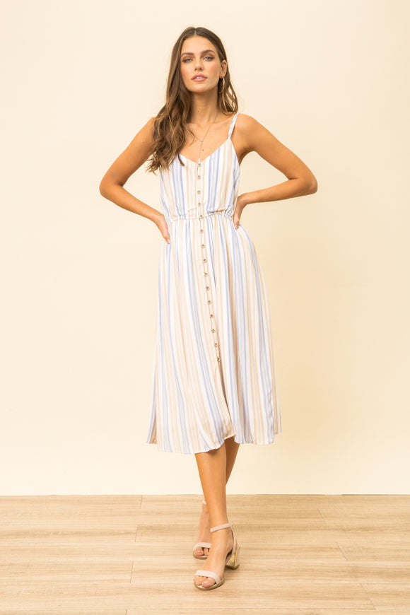 Just What You Wanted - Striped Midi Dress