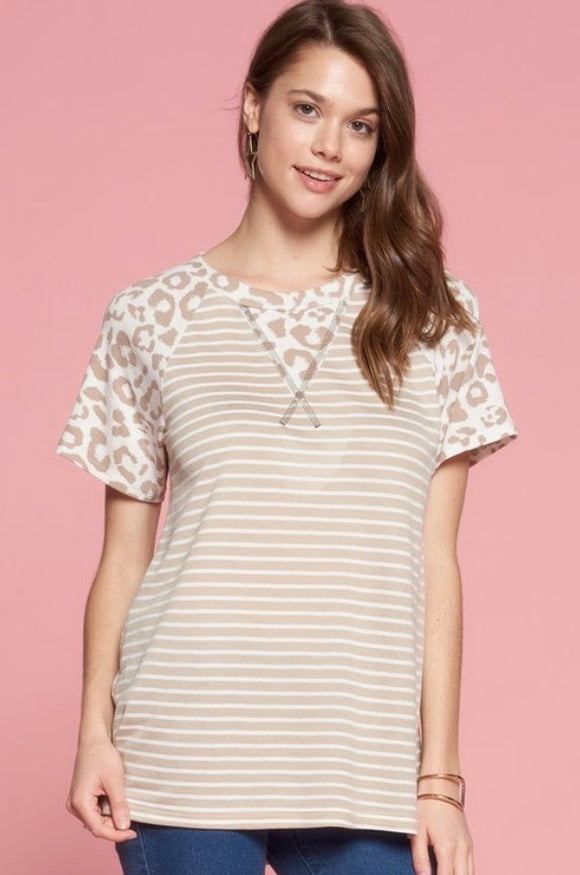 Make it Count - Leopard & Striped Top