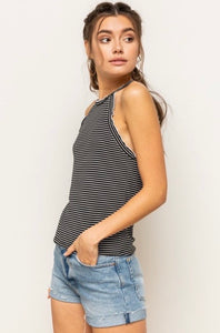 I'm A Classic Kind Of Girl - Striped Tank